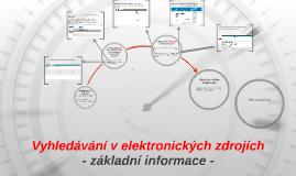 Vyhledávání v elektronických zdrojích
