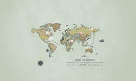 Copy of Tipos de paisajes