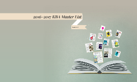2016-2017 KBA Master List for 6th-8th Grade