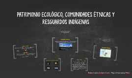 PATRIMONIO ECOLÓGICO, COMUNIDADES ÉTNICAS Y RESGUARDOS INDÍG