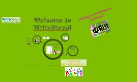 Grade K/unit 2a Welcome to WriteSteps!