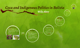 Coca and Indigenous Politics in Bolivia
