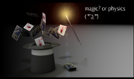 The Physics in Magic Acts