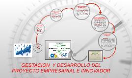Copy of GESTACION  Y DESARROLLO DEL PROYECTO EMPRESARIAL E INNOVADOR