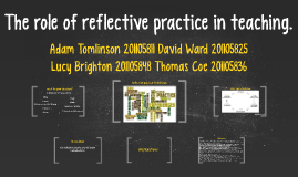 Copy of The role of reflective practice in teaching.