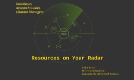 Resources on Your Radar