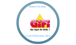 rapport de stage gifi