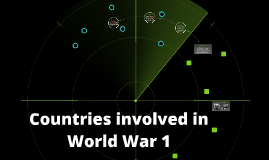 Countries involved in World War 1