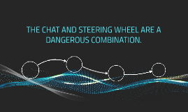 THE CHAT AND STEERING WHEEL ARE A DANGEROUS COMBINATION.