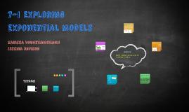 7-1 Exploring Eponential Models