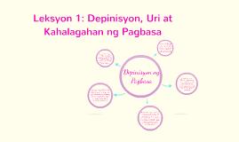 Copy of Copy of Leksyon 1: Depinisyon, Uri at Kahalagahan ng Pagbasa