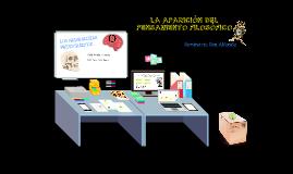 LA APARICIÓN DEL PENSAMIENTO FILOSÓFICO