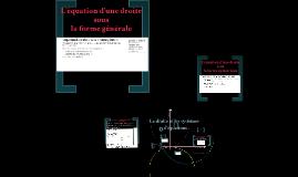 La droite et les systèmes d'équations