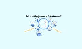 Guía de contribuciones para la Revista Eduscientia