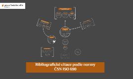 Bibliografické citace podle normy ČSN ISO 690