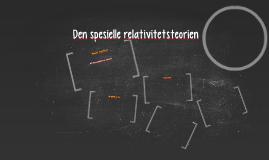 Den spesiell relativitetsteorien