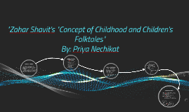 The Concept of Childhood and Children's Folktales
