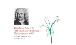 Cantata No.48, 'Ich elender `mensch': movements I-IV by Johann Sebastian Bach