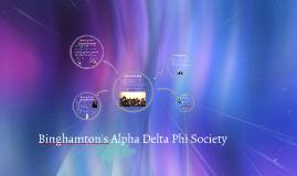 Binghamton's Alpha Delta Phi Society