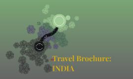 Travel Brochure: INDIA