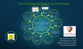 PLAN DE MANEJO AMBIENTAL DE ACUÍFEROS (PMAA)