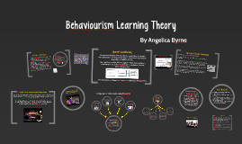 Copy of Behaviourism Learning Theory