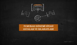 IV. Murat'ın İlk Yılları