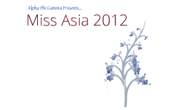 Miss Asia During-Show Presentation