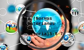 NEA (Normas Ecuatorianas de Auditoria) 5-6-7