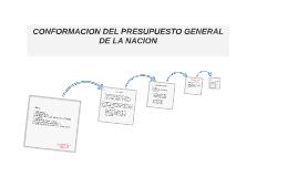 CONFORMACION DE PRESUPUESTO GENERAL DE LA NACION