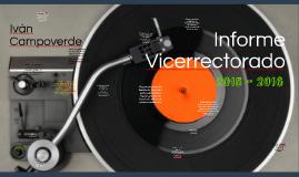 Informe Vicerrectorado