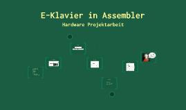 Hardware-Projektarbeit - E-Klavier in Assembler