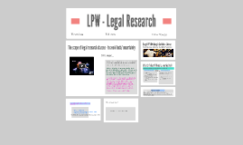 LPW 2016 - Legal Research - Secondary Sources