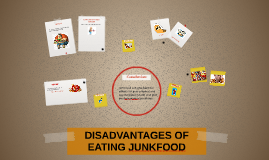 DISADVANTAGES OF EATING JUNKFOOD
