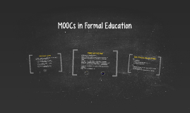MOOCs in Formal Education