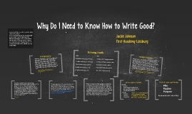 Why Do I Need to Know How to Write Good?
