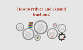 How to reduce and expand