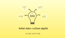 Notas sobre cultura digital