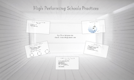 Becoming a High Performing School District