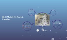 06.05 Module Six Project: Littering