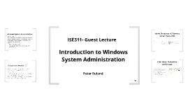 ISE311-Guest Lecture 1