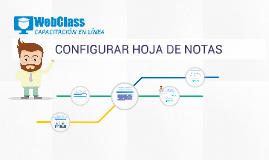 CONFIGURAR HOJA DE NOTAS