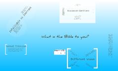 The Bible's Inerrancy