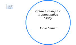 Brainstorming for argumentative essay
