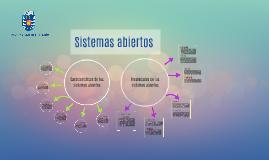 Sistemas abiertos