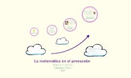 La matemática en el preescolar