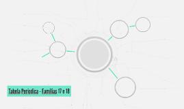 Tabela Períodica - Famílias 17 e 18