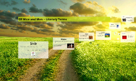 Of Mice and Men ~ Literary Terms