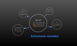 Estructuras mentales