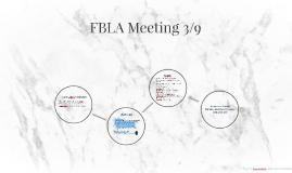 FBLA Meeting 3/9